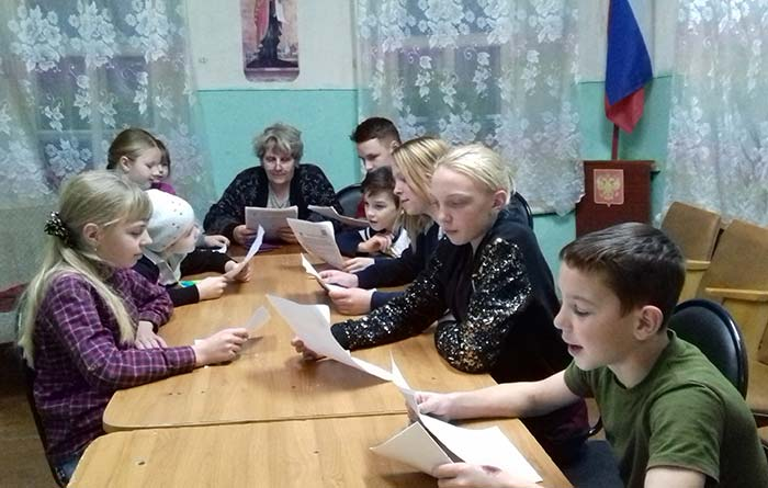 """Конкурс чтецов """"Представь себя актёром"""" в Караваевской сельской библиотеке"""