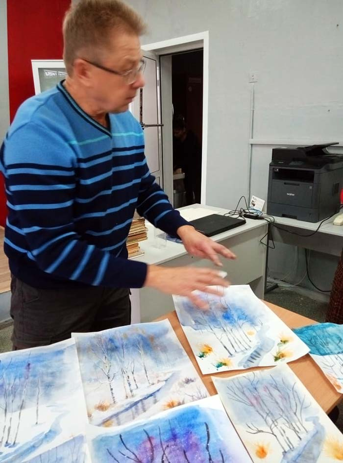 Мастер-класс по живописи для учащихся Аннинской СОШ