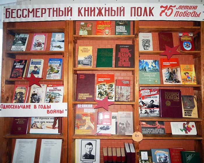 «Бессмертный книжный полк» в Головинской сельской библиотеке