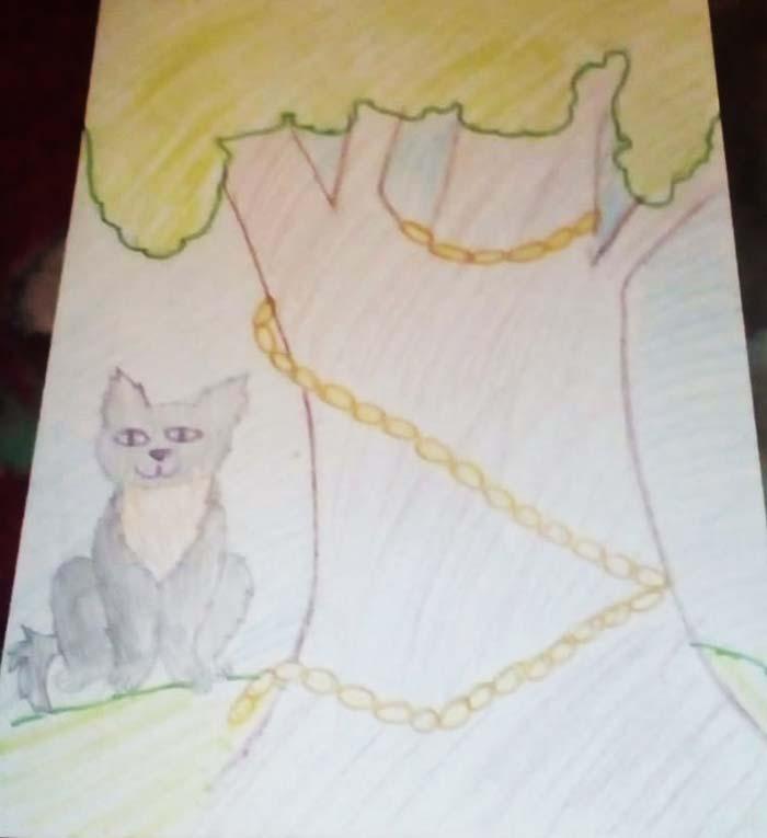 Неверовы Даша, Ксюша и Аня нарисовали рисунки к Пушкинскому Дню России