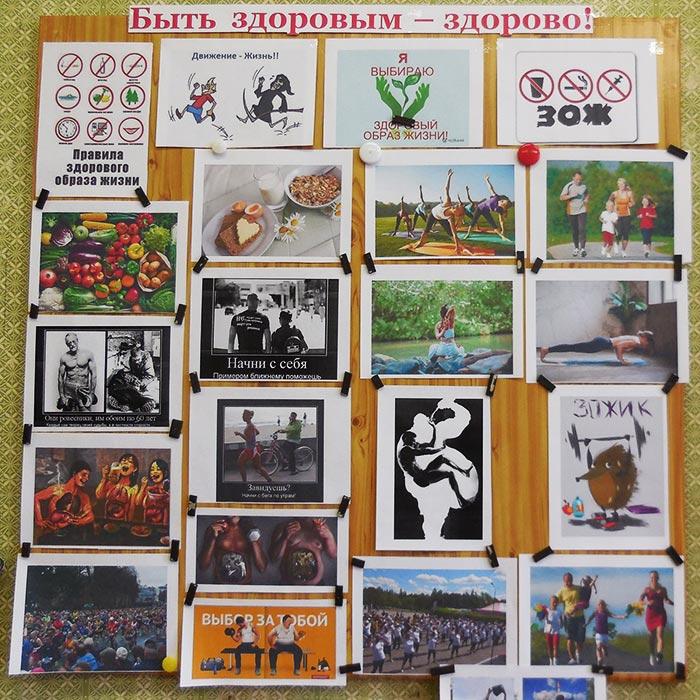 """Фотовыставка """"Быть здоровым - здорово!"""" в Пекшинской сельской библиотеке"""