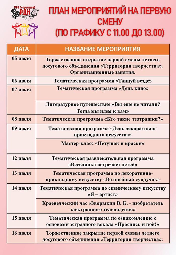 """Открытие первой смены летнего досугового объединения """"Территория творчества"""""""