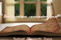 Прохорова Элина читает стихотворение «Библиотека — книжкин дом»