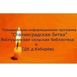 Познавательно-информационная программа «Сталинградская битва»