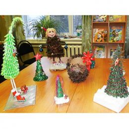 Подведены итоги конкурса «Новогодняя ёлочка своими руками» в Пекшинской сельской библиотеке