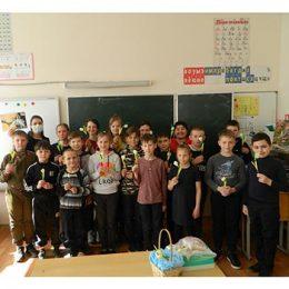 Мастер – класс «Нежные подснежники» для учащихся 4 класса МБОУ «Марковская ООШ»
