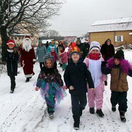 Рождественские колядки «Коляда, коляда открывай ворота…» в д. Крутово