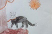 Белов Ярослав нарисовал рисунок к Пушкинскому Дню России